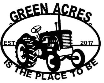 Personalized Tractor Sign (a36)