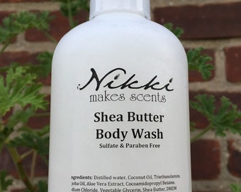 Shea Butter Body Wash - ROMANTIC-inspired  fragrances (your choice)