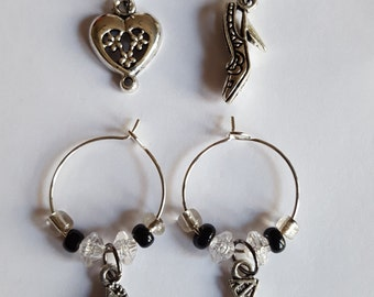 50 Shades Inspired Wineglass Charms, Set of 4