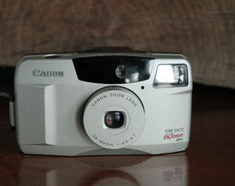 Canon Sure Shot 60 Zoom 35mm film Point and Shoot camera