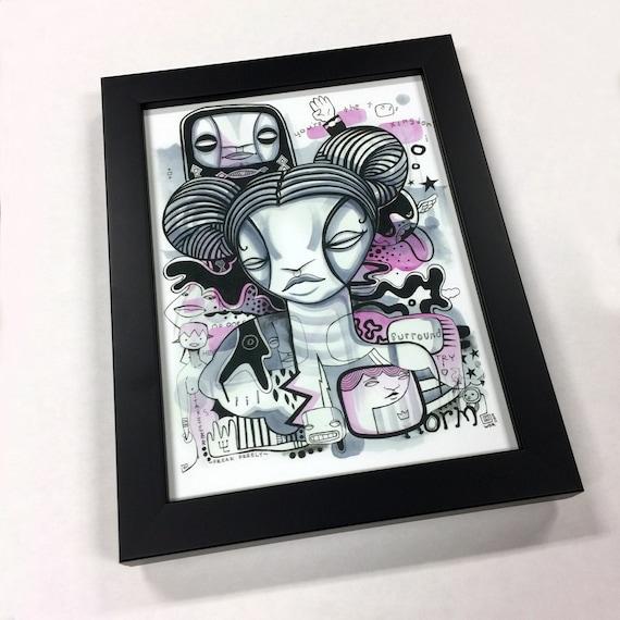 """Tall Kingdom - Artist's Proof Print - 5"""" x 7"""" - Framed"""