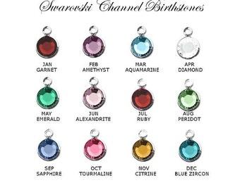 Add a Swarovski Birthstone to the purchase in my Cart - Choose Silver or Gold - Birthstone Crystal, Add on Crystal, Add on Charm