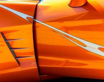 Chevrolet Corvette Door Detail Car Photography, Automotive, Auto Dealer, Muscle, Sports Car, Mechanic, Boys Room, Garage, Dealership Art