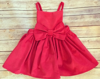 Beatrix Romper in Red and Purple Corduroy - Valentine's Day dress, girls dress overalls, corduroy overall dress, modern girls clothing