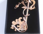 Custom Order for Luis - Handmade Sterling Silver kairi's keyblade - Destiny's Embrace - Pink Gold Platting