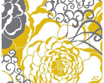 Needlepoint pattern RETRO - cross stitch,needlepoint,needlepoint pillows,embroidery pattern,scandinavian,burlap pillows,swedish,pillow cover
