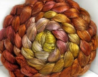 Yak Bombyx Silk 50/50 Roving Combed Top - 5oz - Marmalade 1