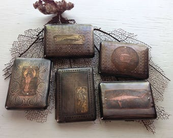 Ocean Creatures Assorted Etched Wallet / Cigarette Case