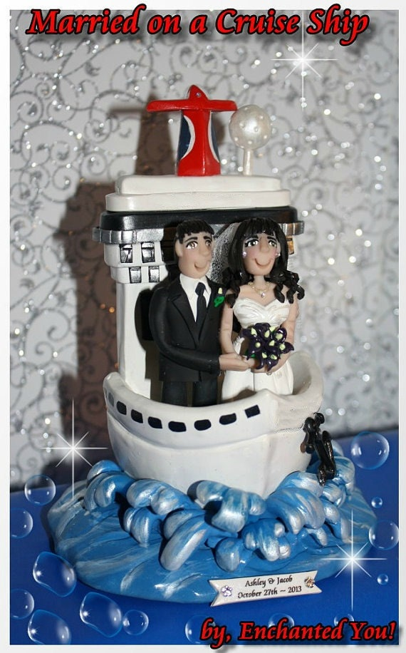 ship wedding cake ship wedding cake topper personalized custom 19781