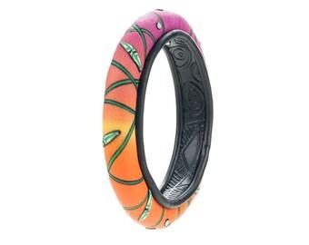 "Polymer Clay Bracelet, wild Japanese ""DokiDoki"" color-pop style Polymer Clay Bangle, Polymer Clay jewelry"