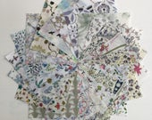 "40 Liberty Lawn  2.5 inch mini charm squares - LOW VOLUME  40 Liberty tana lawn 2.5""  patchwork squares"