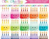 70% OFF SALE Kawaii Cakes Clipart Cake Clip Art Graphics Dessert Clipart Birthday Party Clip Art