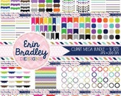 70% OFF SALE Mega Clipart Bundle Digital Clip Art Borders Bunting Frames Labels & Tags Instant Download Commercial Use Graphics - 16 Sets
