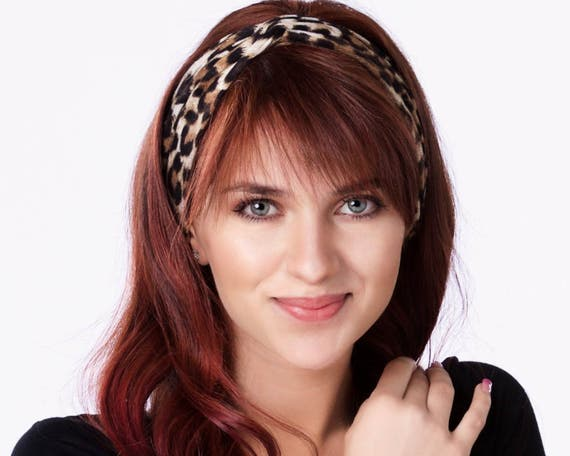 Leopard Headband Women Cheetah Print Turban Animal Print Turband Gift For Her Adult Headband Women's Headband Animal Hair Accessory Turban