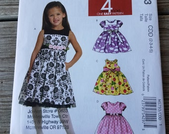 New McCall's, Girl's Dress Pattern, M5793, CDD (2-3-4-5)