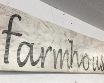 CUSTOM Farmhouse sign long reclaimed wood kitchen dining room cottage renovation wall decor Beach House Dreams Home Outer Banks OBX signs
