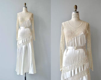 Elara wedding gown | vintage 1920s wedding dress | silk 20s wedding dress