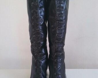 Vintage Franco Sarto Corset Boots size 9