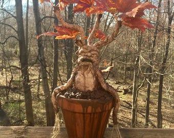 "Harry Potter Mandrake Plant Sculpture 14"""