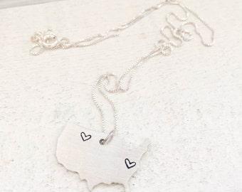 USA Pendant Necklace
