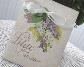Vintage Book * Booklet * Whittier * Victorian * Antique * c1910 * Lilacs