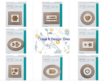 Thermoweb Gina K Designs Dies in 8 Shapes for Cardmaking, Scrapbooking, Mixed Media