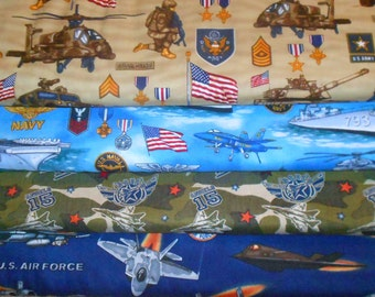 MILITARY #3  Fabrics, Sold INDIVIDUALLY not as a group, by the Half Yard