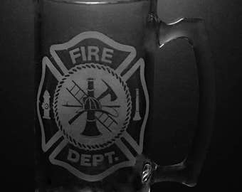 Fire Department 25 Ounce Beer Mug