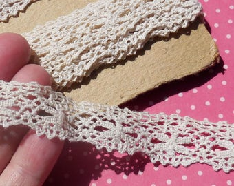 Vintage Lace Trim Cluny Lace Cotton Lace Scalloped