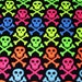 C&C  2x3 grid OR Midwest cage fleece liners  Quality, beautiful and FREE  shipping!  3 layers! Bright skulls on black