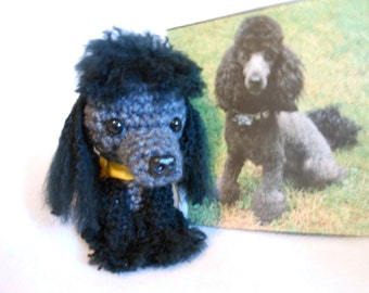 Custom Crochet Dog Made to Look Like Owner's Dog, Poodle, Canine, Stuffed Dog, Pet Memorial, OOAK, Pet Remembrance, Look Alike
