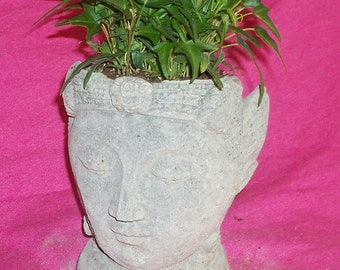 Natural Stone BUDDHA HEAD PLANTER or Pot