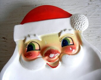 Holt Howard Christmas Santa Dish   Ho,t Howard Santa Claus   1964 Vintage Christmas