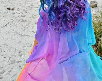 Rainbow Child Silk Flow Kimono