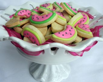 Mini WATERMELON SUGAR COOKIES, Itty Bitty Sugar Cookies, 1/2 Pound