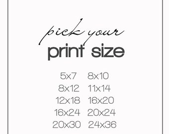 Pick your size print fine art photograph your choice wall art ready to frame print home decor custom size print