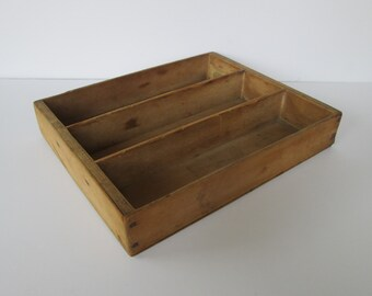 Rustic Wood Divided Tray Box