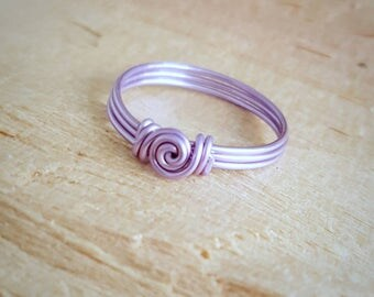 Wire Wrapped Ring - Lavender   Wire Wrapped Ring - Wire Jewelry - Lavender  Wire Jewelry - Wire Jewellery -