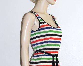 James Kenrob by Dalton Summer Stripe Maxi Dress Size S