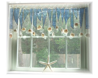 Fresh as a Seabreeze NUMBER ONE Stained Glass Window Treatment Valance