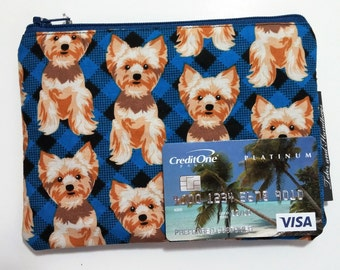 Terrier Pup Zippered Coin Pouch / Cell Phone / Wallet / Make-Up Pouch / Organizer / Sanitary Pad Storage
