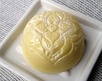 Lemon Sugar Yellow Ornate Shea Butter Soap Bar
