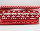 SUMMER SALE - 1/2 Yard Bundle (9) - Basics in Red / Coral - Bonnie and Camille for Moda Fabrics