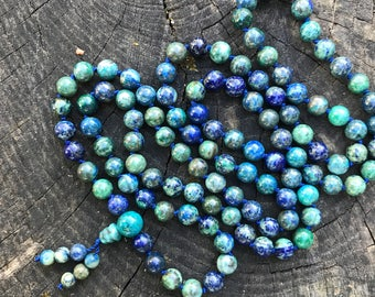 Chrysocolla 108 Bead Mala Necklace