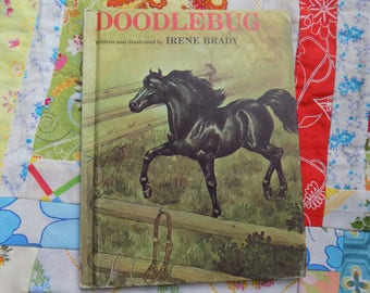 Vintage 1977 Doodlebug Hardcover Book written and illustrated by Irene Brady
