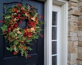 SPRING Summer WreathS, Daisy Wreath, Spring Front Door Wreaths, Front Porch Wreaths, Modern Wreaths, Easy Wreaths, Decorative Wreaths