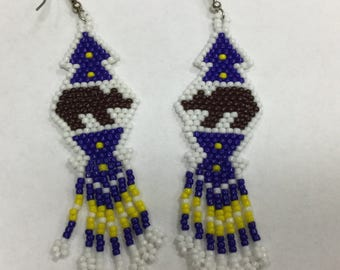 Beaded Bear Earrings