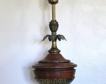 Vintage Stiffel Torchiere Lamp Milk Glass Diffuser