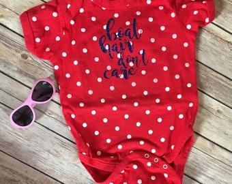 Boat hair, don't care onesie, kids onesie