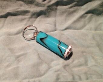 Turquoise Acrylic Medicine Holder